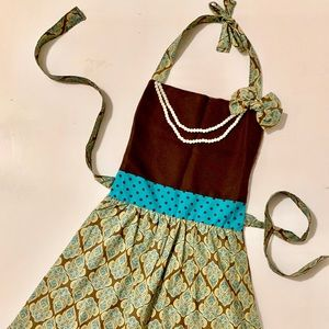 Apron Complete with Pearls for the Holidays